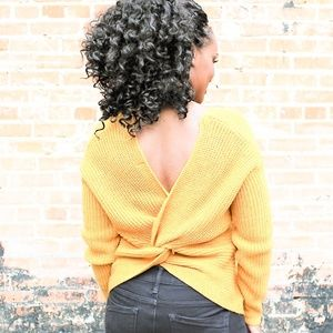 Sweater with Twist Back Detail